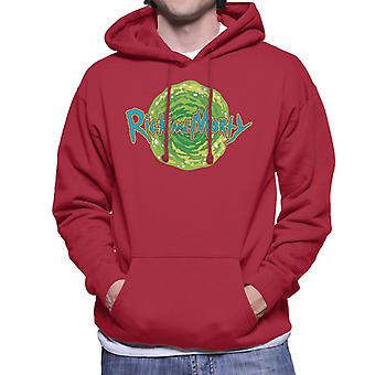 Rick and Morty Logo Against Portal Men's Hooded Sweatshirt
