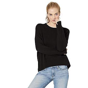 Brand - Daily Ritual Women's 100% Cotton Boxy Crewneck Pullover Sweater, Black, Large