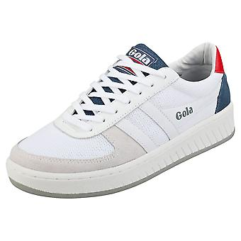 Gola Grandslam Mens Casual Trainers in Wit Blauw Rood