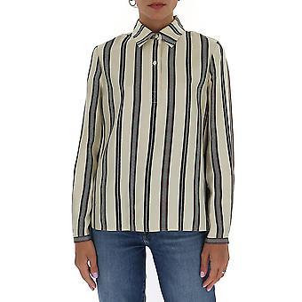 Tory Burch 73726807 Dames's White Cotton Shirt