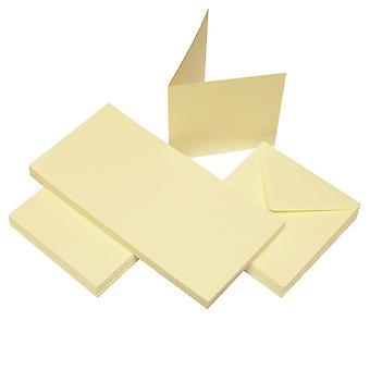 Craft UK Cards & Envelopes 4x4 Inch Ivory