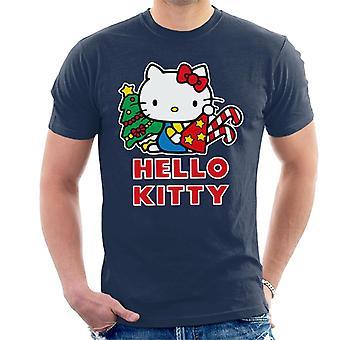 Hello Kitty Festive Star Christmas Hat Men's T-Shirt