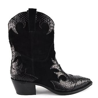 Ash DESPERADO Boots Black Suede And Leather