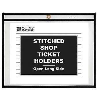 49911, Titolari di biglietti per il negozio, Stitched, entrambi i lati chiari, Lato lungo aperto, 11 x 8 1/2, 25/BX, 49911