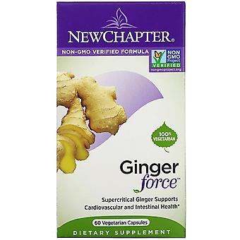 New Chapter, Ginger Force, 60 Vegetarian Capsules