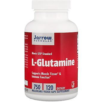 Formule Jarrow, L-Glutamina, 750 mg, 120 Tappi vegetariani