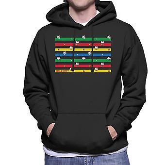 Hello Kitty Multicoloured Montage Men's Hooded Sweatshirt