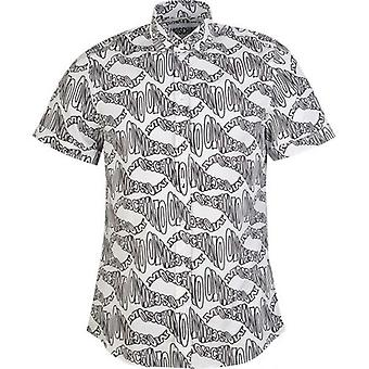 Moschino Couture All Over Logo Short Sleeved Shirt