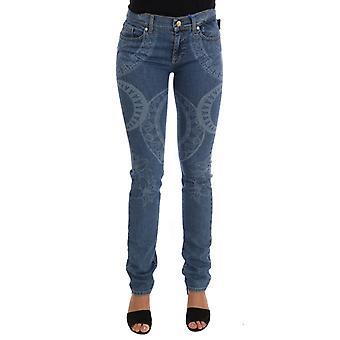 Versace Jeans Blue Wash Print Stretch Slim Fit Jeans PAN60772-2
