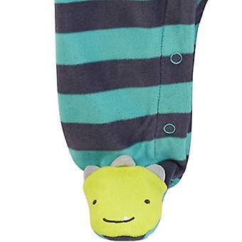 Simple Joys by Carter's Boys' 2-Pack Fleece Footed Sleep and Play, Animal/Str...