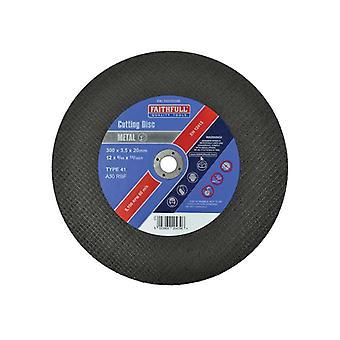 Faithfull Metal Cut Off Disc 300 x 3.5 x 20mm FAI3003520M