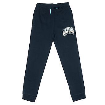 Boy's Converse Junior Collegiate Repeat Jog Pants in Blue