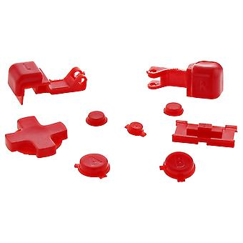 Zedlabz replacement button set for nintendo game boy advance sp gba handheld - red