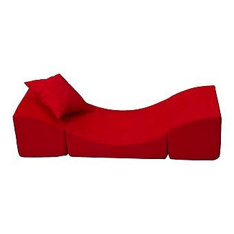 Silla reclinable para niños espuma roja