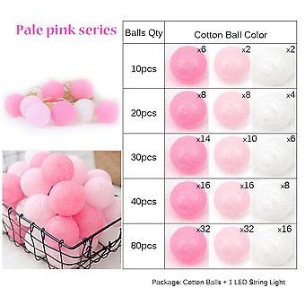 Light Pink Fairy 4cm Bumbac Bile String Lumini- În aer liber Gradina de nunta