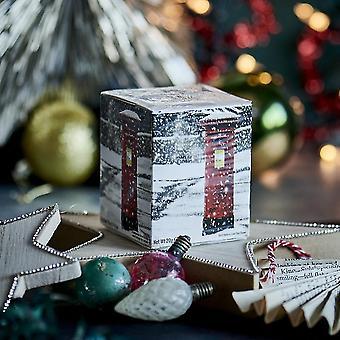 Inglês post caixa de neve cena chá da tarde 10 teabag caixa