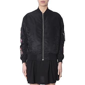 Mcq Door Alexander Mcqueen 496324rkq071000 Women's Black Nylon Outerwear Jacket