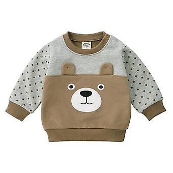 Newborn Baby Winter Cute Sweater, Long Sleeved Casual T-shirt 1-2y Cartoon