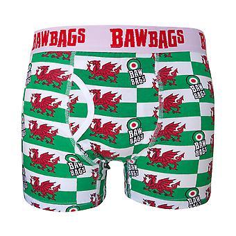 Bawbags Welsh Dragon Boxer Shortsit - Valkoinen