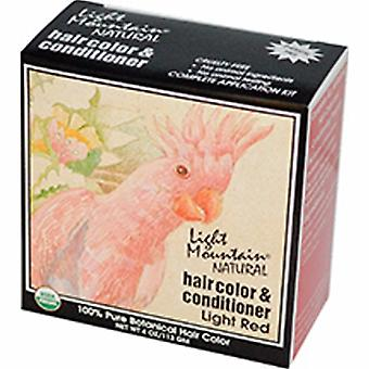 Light Mountain Narural Hair Color and Conditioner, Light-Red 4 Oz
