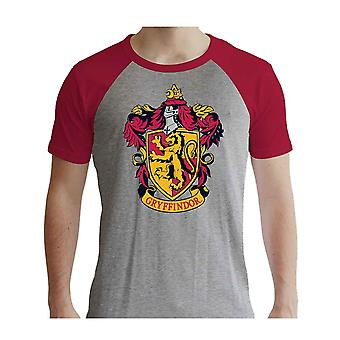 هاري بوتر تي شيرت Gryffindor جديد الرسمية الرجال غراي والأحمر