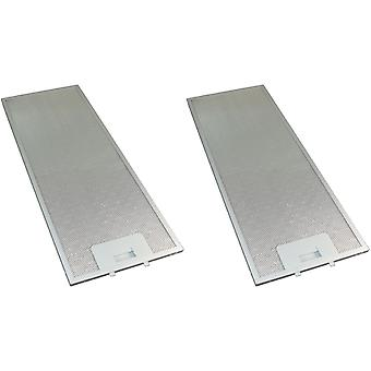 2 x Universal Cooker Hood Metal Grease Filter 175mm x 445mm