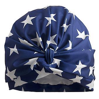 Navy Stars Shower Turban