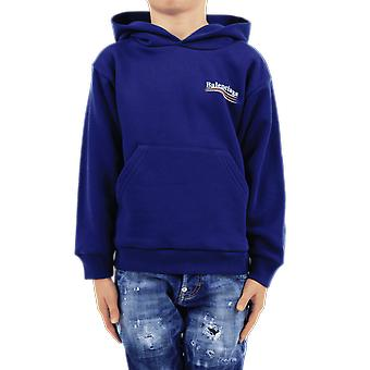 Balenciaga Hoodie Kids Blue 558143TIVB41195 Top Blue Balenciaga accessories