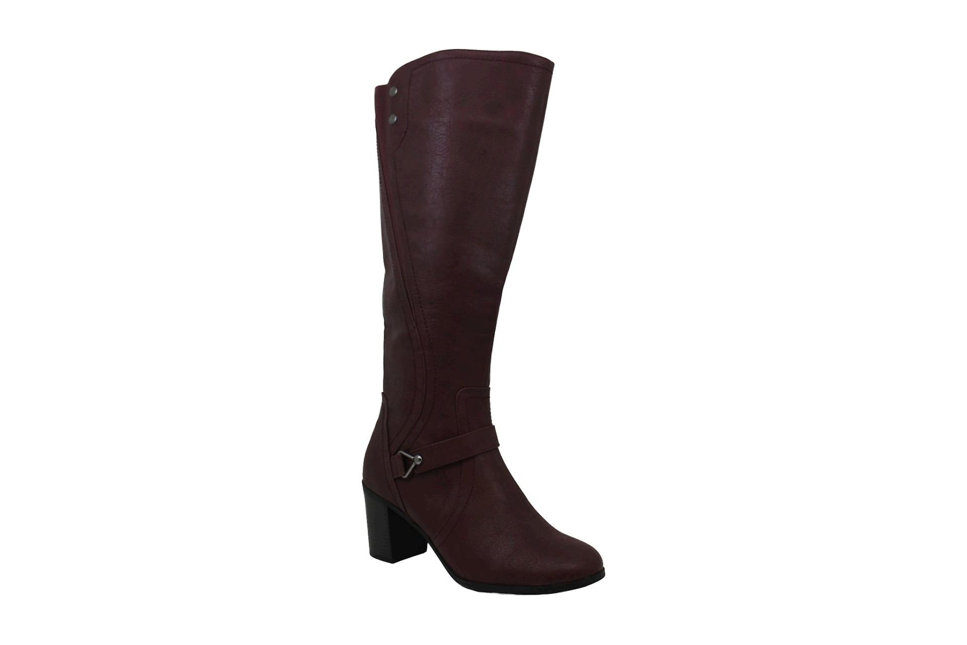 Easy Street Womens format Leather Almond Toe Knee High Fashion Boots