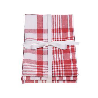 Dexam Love Colour Tea Towels Extra Large x 3 Scarlet 16150345