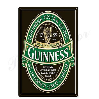 Guinness Vintage Metal Signs For Wall Decor Plates Of Bar, Pub, Club