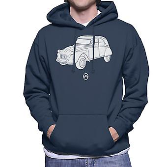 Citro?n 2CV Angle For Dark Men's Hooded Sweatshirt