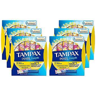 Tampax Protection Applicator, Regular Compak, Pack of 8