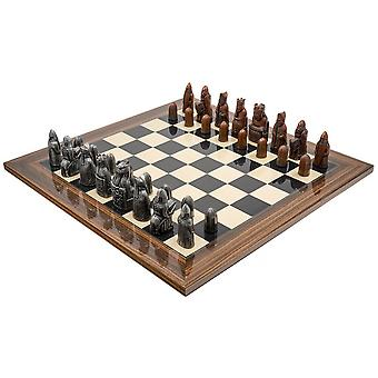 The Berkeley Chess Isle of Lewis (2nd Edt) Metal & Palisander Chess Set