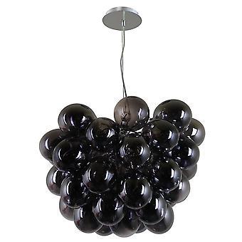 Italux Bento - moderne hängende Anhänger Chrom 8 Licht mit rauchigen Schatten, G9