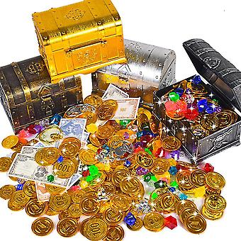Treasure Box With Lock For Party Favors Props Decoration Pirate Treasure Chest