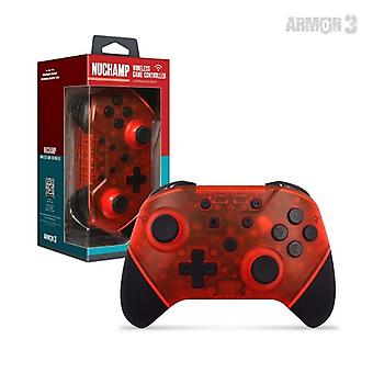 Nuchamp Wireless Game Controller für Nintendo Switch/Lite (Ruby Red)