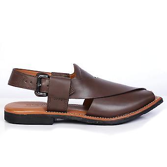 Men's Leder Fischer Reifen Sohle Sandale