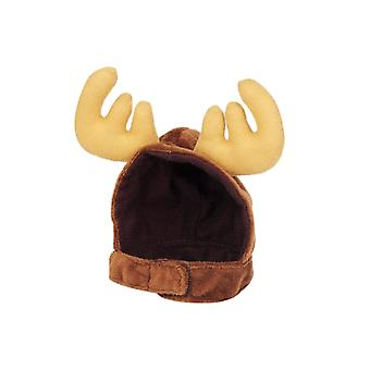 Pet Happy Birthday Hat Costume Headgear Flannel Elk Shape Hat Party Decorations