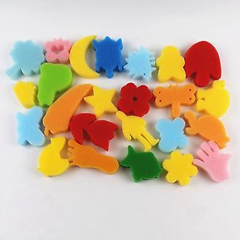24pcs Colorful Assorted Sponge Diy Education Learning Craft Diy