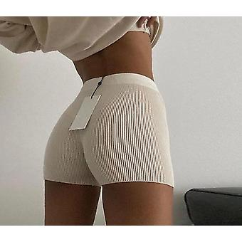 High Waist Women Knitted Biker Shorts
