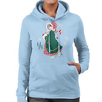 ホリーホビークリスマスドレス女性&アポ;sフード付きスウェットシャツ