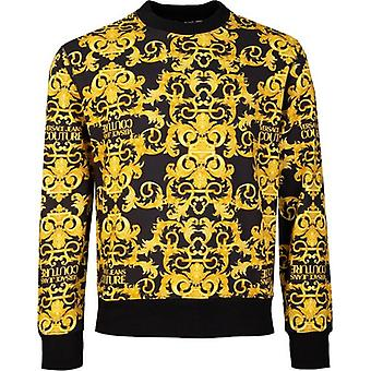 Versace Jeans Couture All Over Baroque Print Crew Neck Sweat