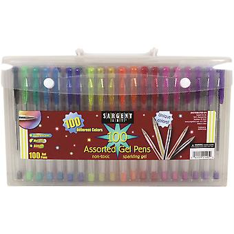 Gel Pens In Case With Handle, 100Ct