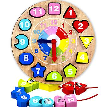 Jaques of london shape sorting teaching clock wooden toys for over 220 years - great montessori toys
