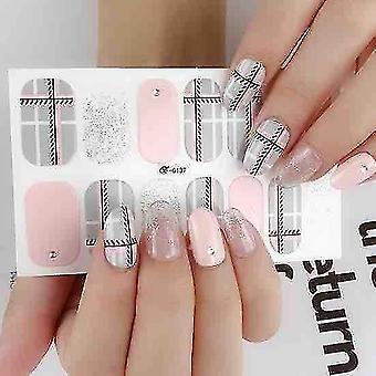Pink Art Gel Nail Wraps