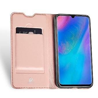 Huawei P Smart (2019) PU Case met Card Pocket - Rose Gold