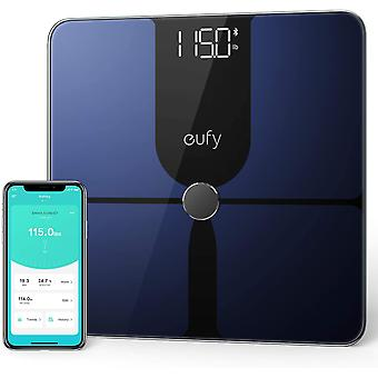 eufy Smart Scale P1 with Bluetooth, Large LED Display, 14 Measurements, Black/White, lbs/kg