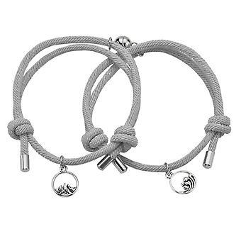 Pair bracelet with Magnet - Grey