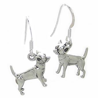 Chihuahua Dog Oorbellen Sterling Silver .925 X 1 Paar Chihuahuas